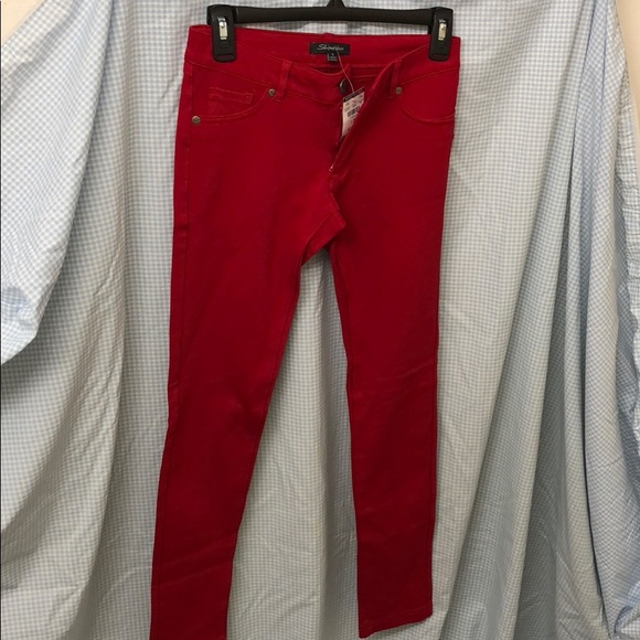 678e3c7fc7b Shinestar Pants | Nwt Body Central Stretch Jeggings Red | Poshmark
